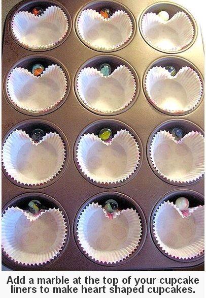 DIY Heart shape Cupcakes