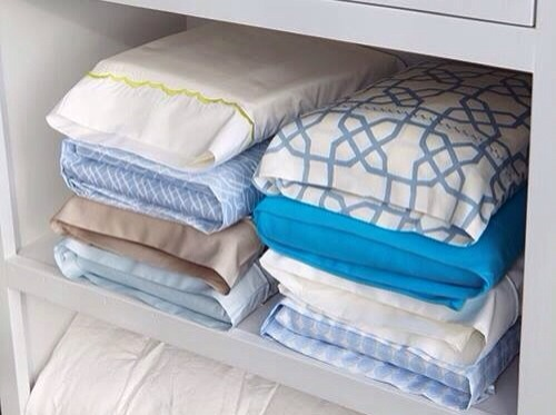 Store Bed Linens Inside Their Matching Pillowcase!