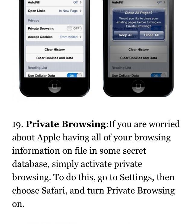 private browsing safari