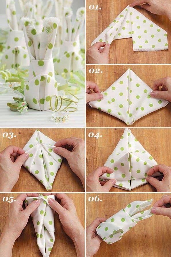 Beautiful Ways To Fold Napkins.
