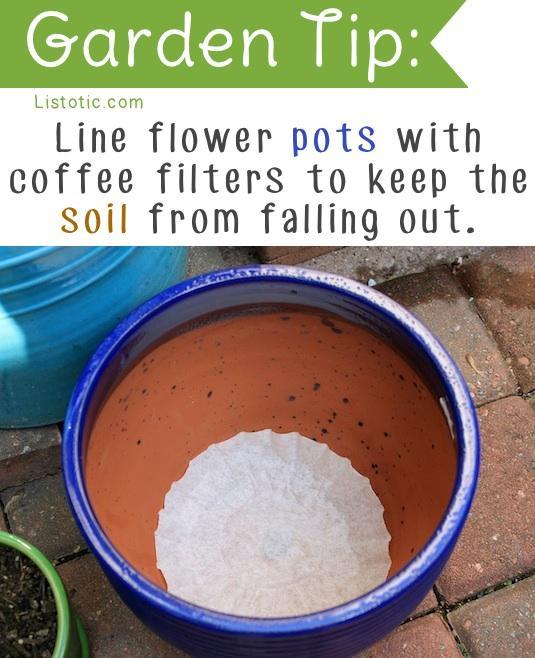 Prevent soil from coming out of the pot trusper for Soil not draining