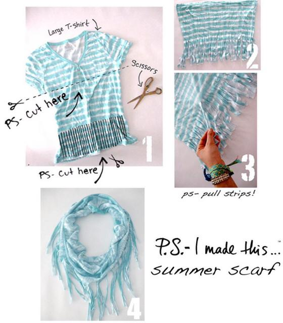 Diy Scarf Made From A Shirt