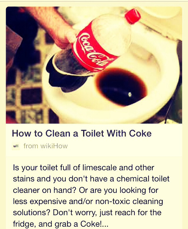 clean your toilet with just coke what good tip to know trusper. Black Bedroom Furniture Sets. Home Design Ideas