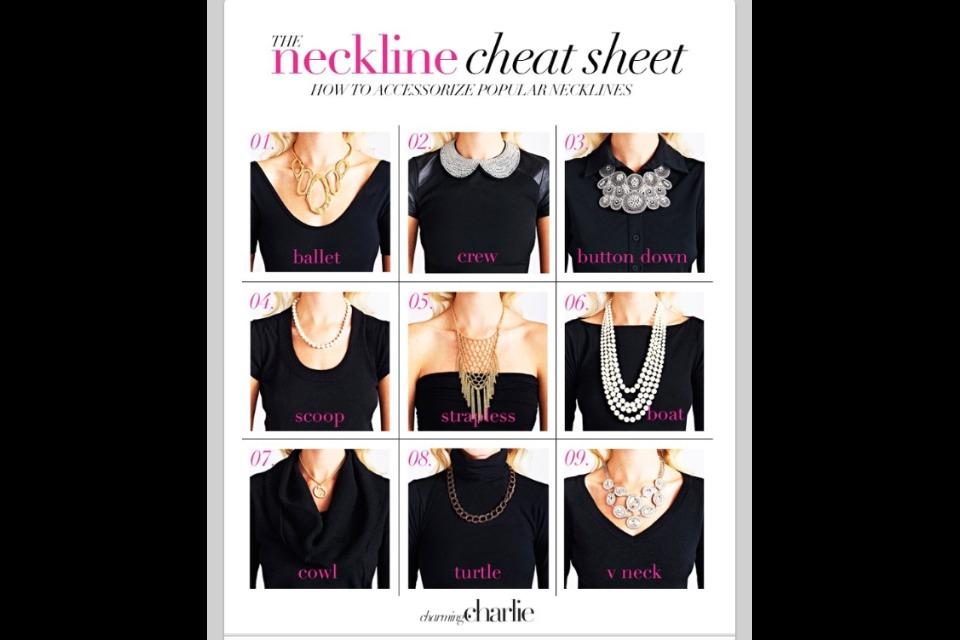 how to wear a necklce