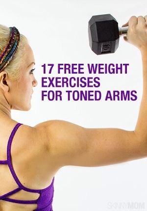 ❗️17❗️Free Weight Exercises For Toned Arms 💪 Picture Demonstrations Included 👍