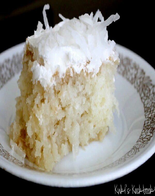 Coconut Milk Soaked Cake