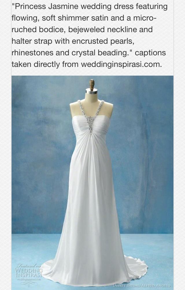 Disney princess inspired wedding dresses trusper for Disney inspired wedding dresses