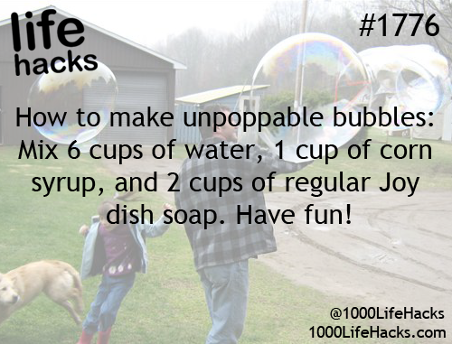 You can have impopable bubbles?