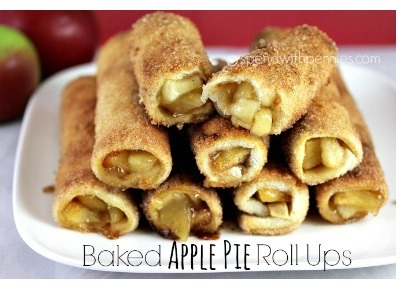 ✨Baked Apple Pie Roll ups ..Easy And Delicious!✨👍
