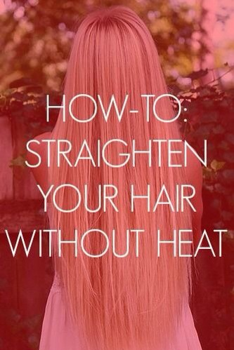How To Straighten Your Hair Without Heat ^,^ Add Me For ...