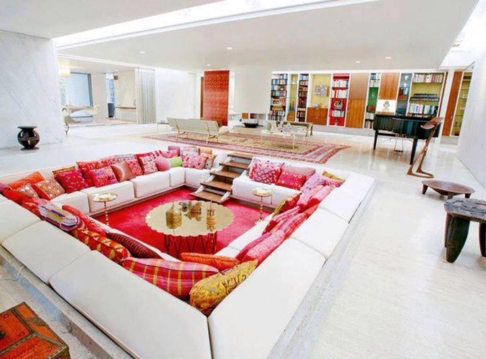 Sunken living room designs trusper for Sunken living room designs