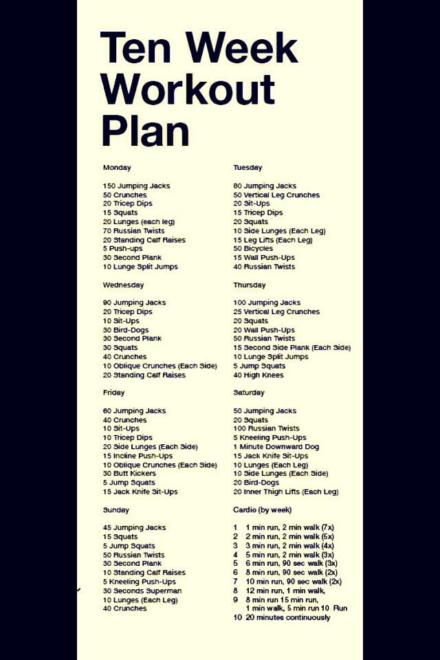 Ten Week Workout Plan  Joey Garcia