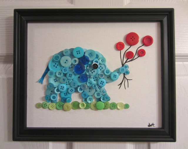 Button Elephant Room Decoration