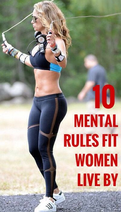 10 Mental Rules Fit Women Live By😉☺️