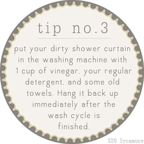 Clean Your Shower Curtain
