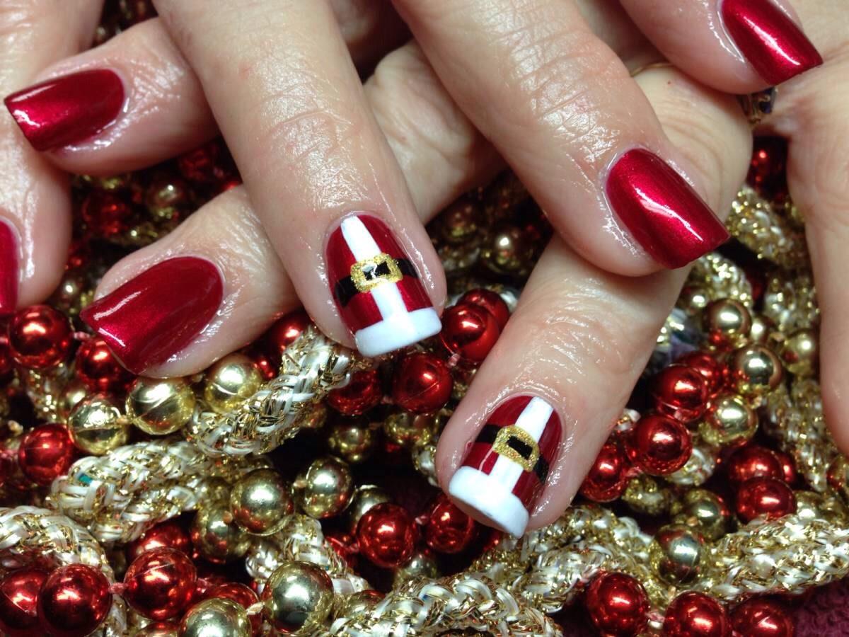 Дизайн ногтей на новый год фото на