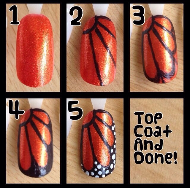 Butterfly Nail Designs Step By Step: Step By Step Nail Tutorials