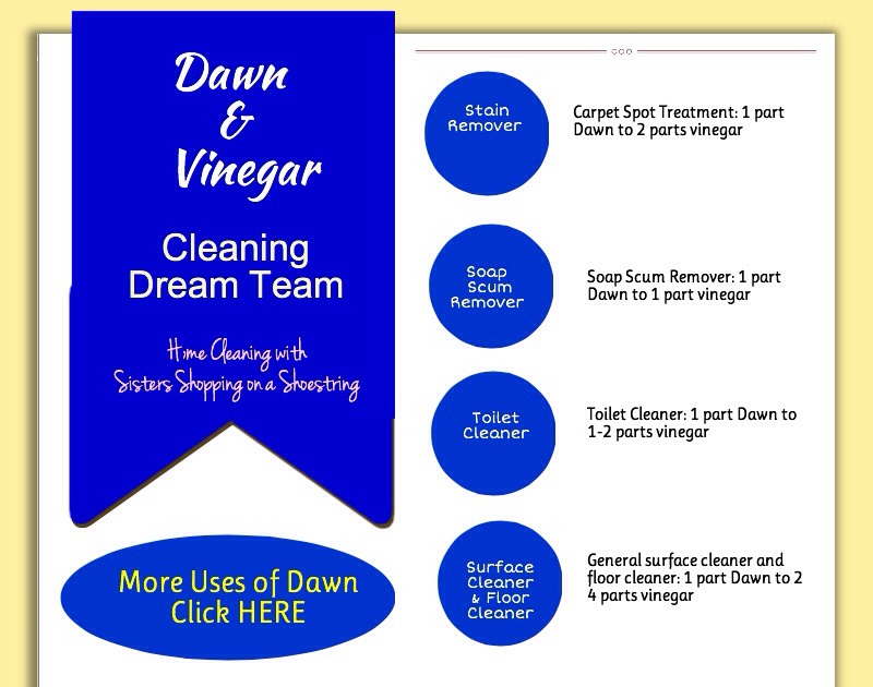 Use Blue Dawn Soap Vinegar And Water Wto Clean Shower