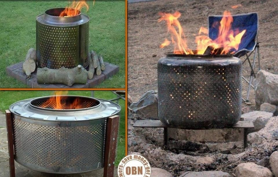 Making A Fire Pit With A Gallon