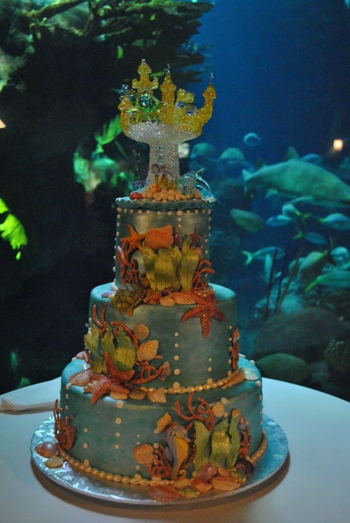 Water Themed Wedding Cakes