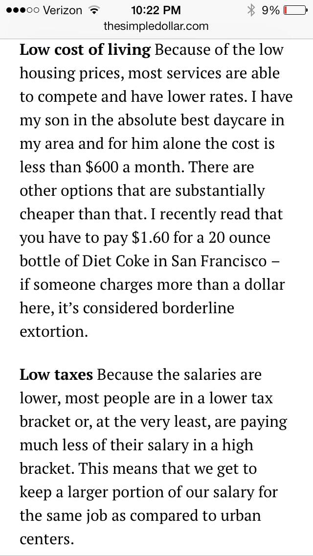 Iowa 39 s low cost of living trusper for Iowa cost of living