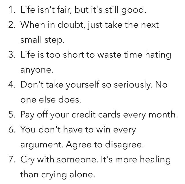 45 Life Tips