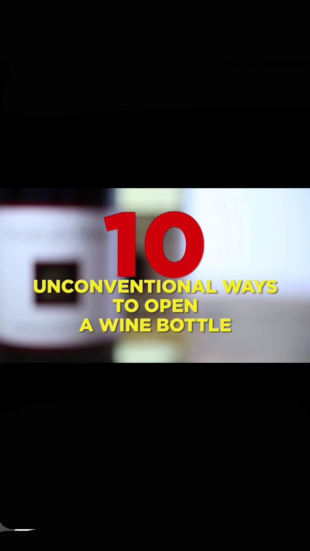10 unconventional ways to open wine without a wine opener trusper. Black Bedroom Furniture Sets. Home Design Ideas