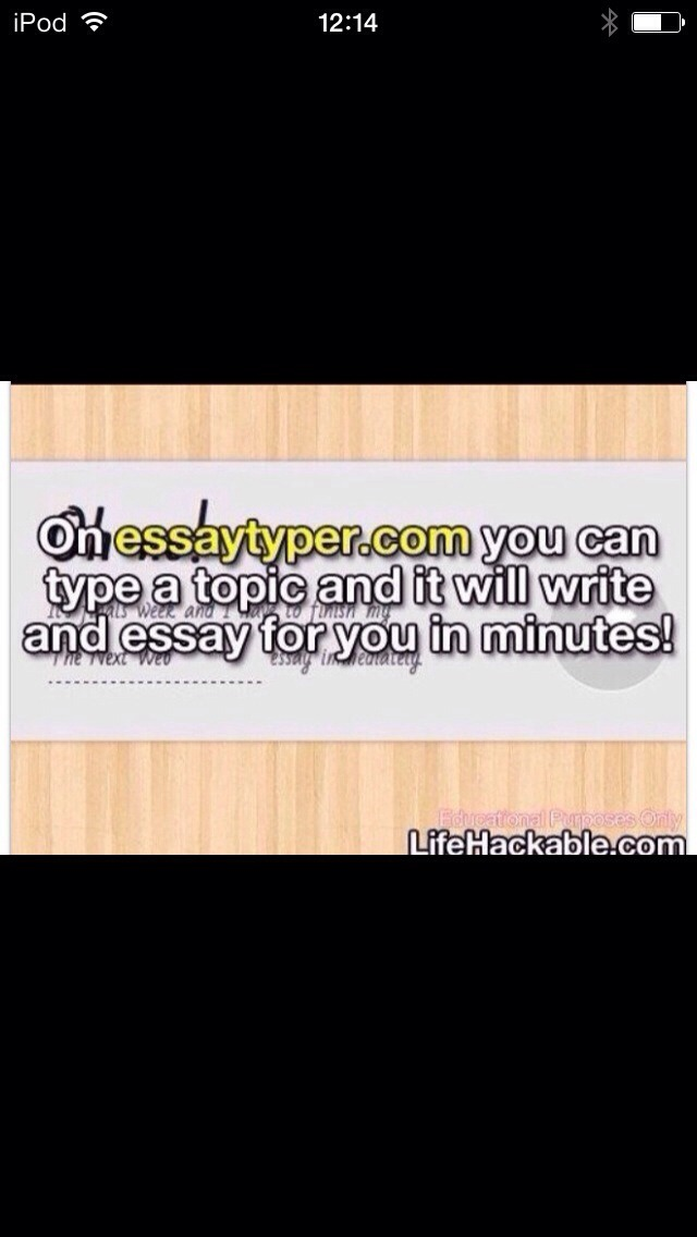 I need help with an essay