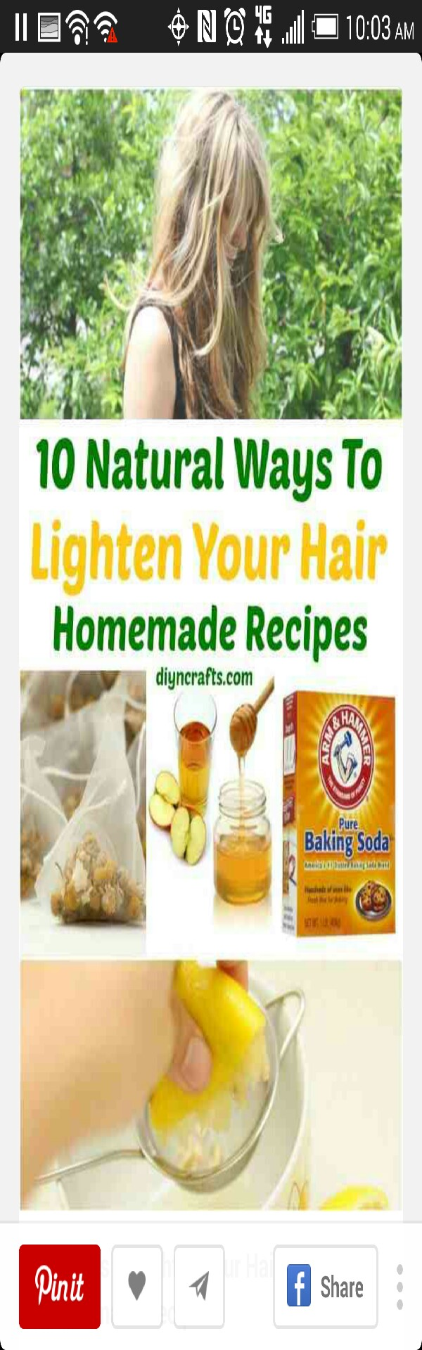 ✨10 natural ways to lighten your hair✨