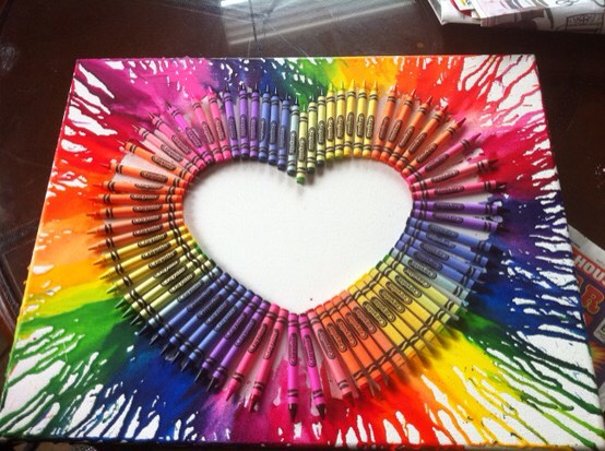 MELTED CRAYON ART IDEAS!!🎨 #tipit