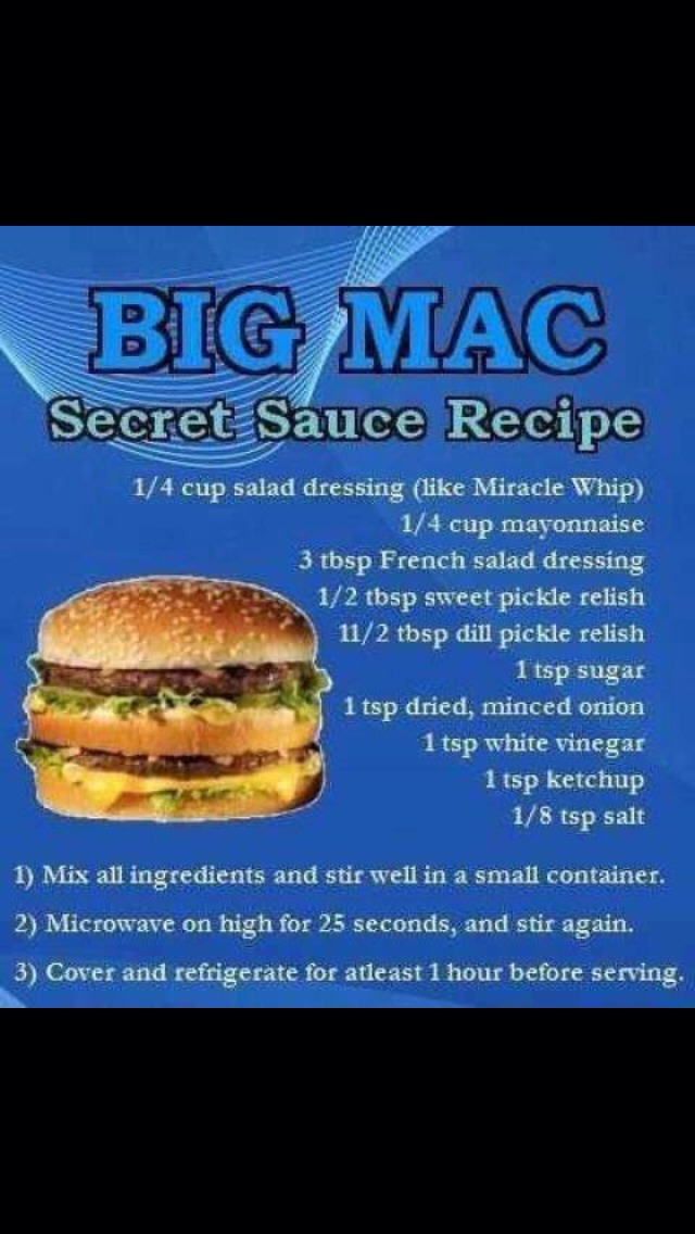 how to make your own big mac