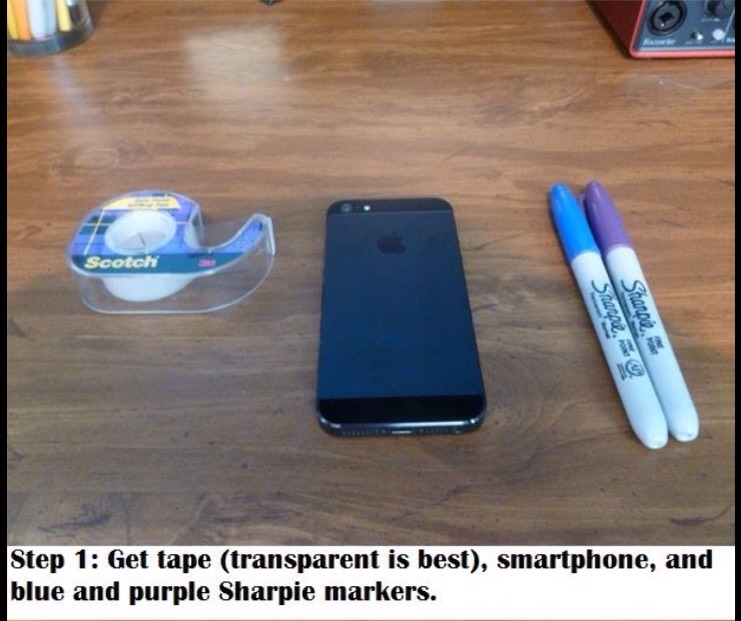 How To Make A Blacklight With An I Phone Flashlight!