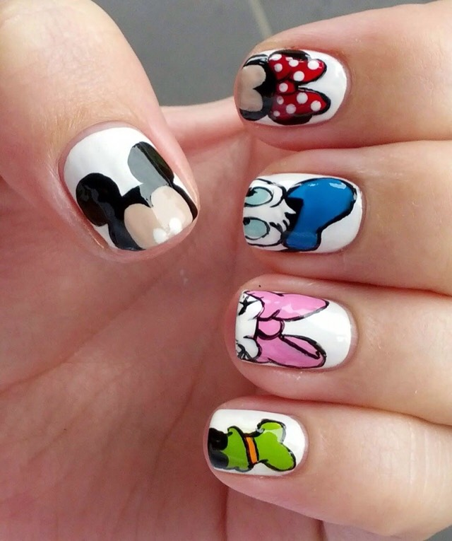 Disney Nails So Cute! Love It!