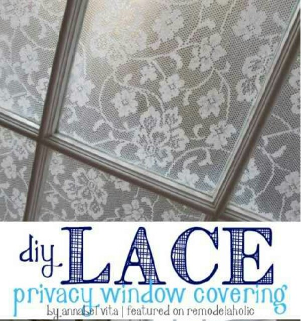 DIY Lace Window Privacy Covering!!