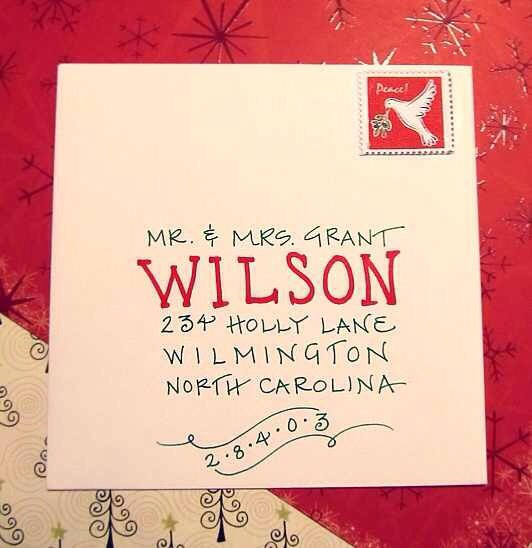 What a cool way to address a christmas card trusper for Cool xmas cards