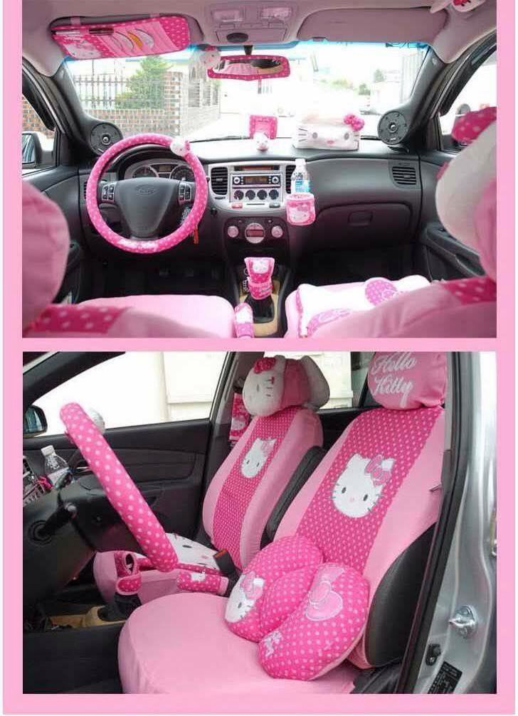 Amazing hello kitty decor for the inside of the car like 4 more trusper for How to decorate your car interior
