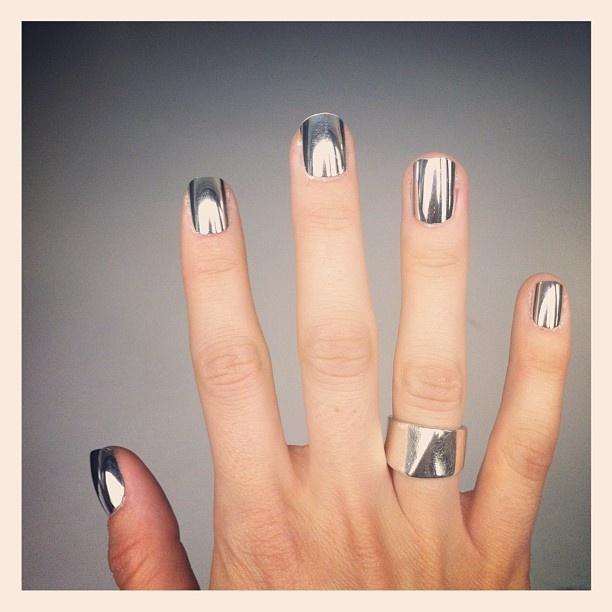 Minx Silver Chrome Nails!