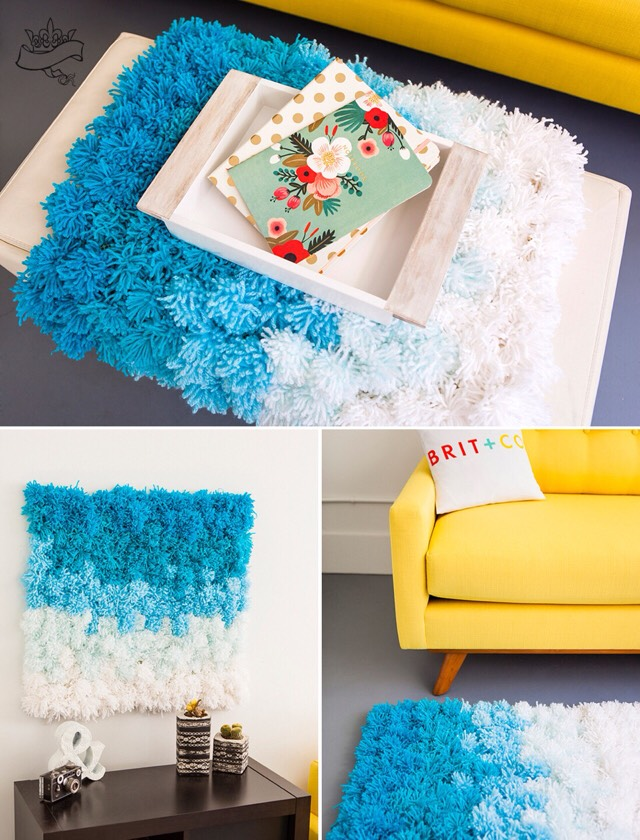 💙Diy Pom Pom Table Runner, Wall Hanging Or Rug All In One💙