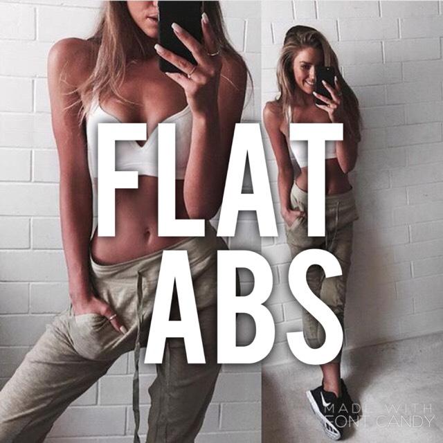FLAT ABS 😍💪🏻💪🏻❤️