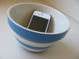 Place Cellphone In A Bowl To Amplify Sound...great For Louder Music