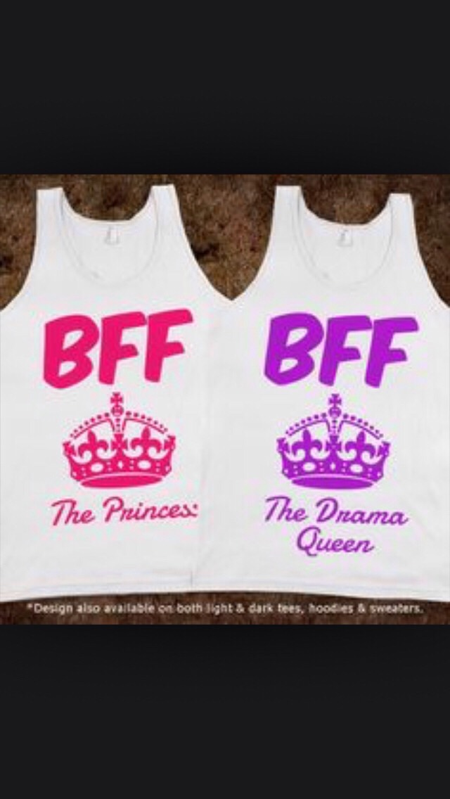 Best Friend Shirts!!!👧👩👭👯🎽👚🎀