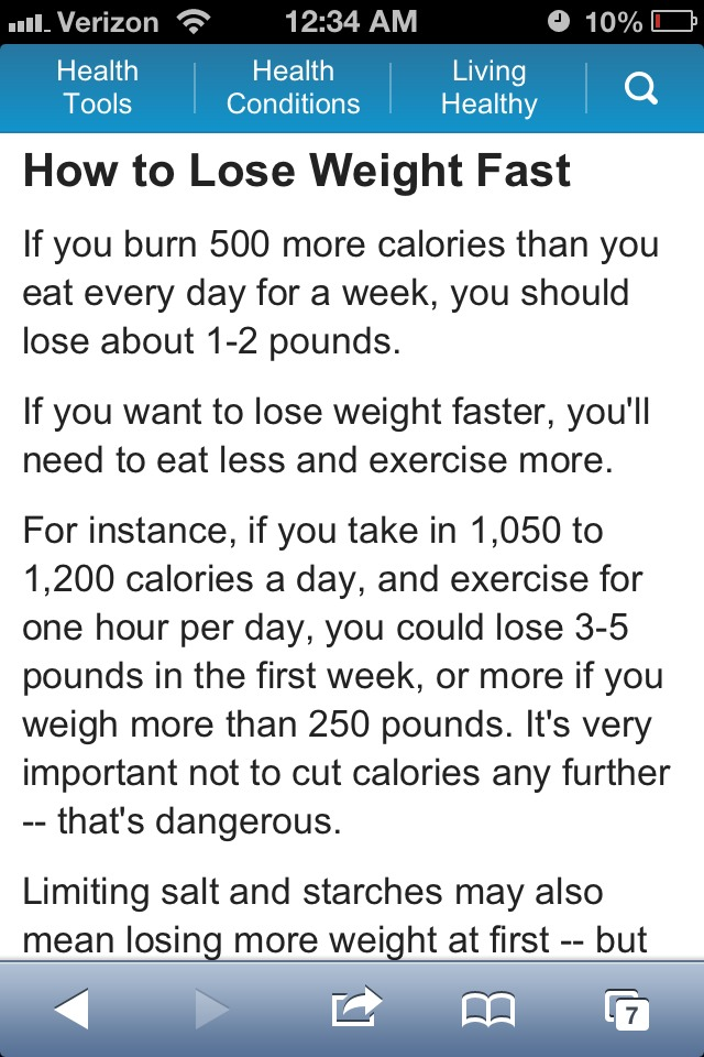 A Safe Way To Lose Weight. No Fad Diets Or Crash Diets ...