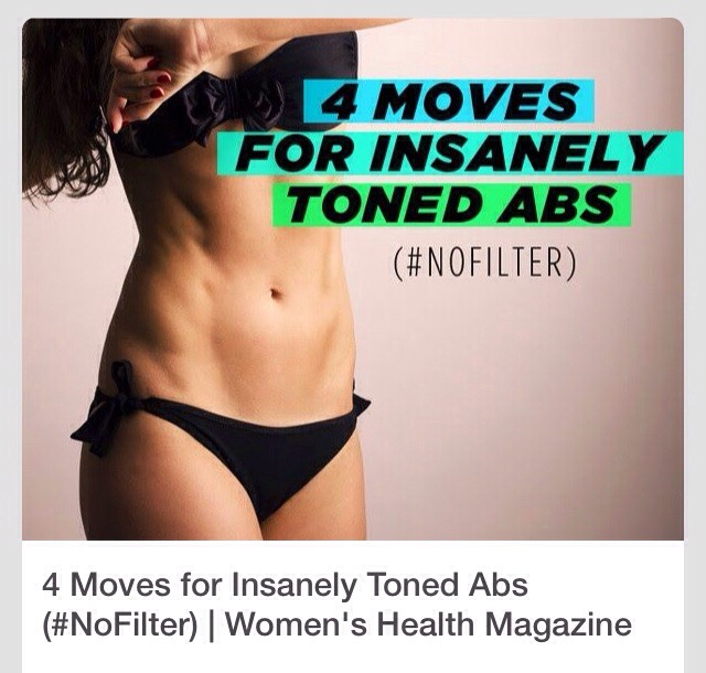 Four Moves For Insanely Toned Abs #tipit