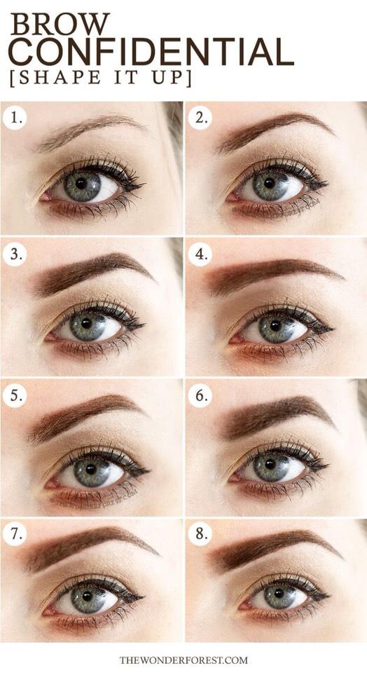 16 Diagrams To Get The Eyebrows Of Your Dreams