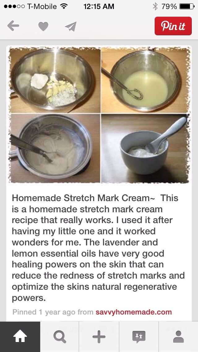 Homemade Stretch Mark Cream ‼️