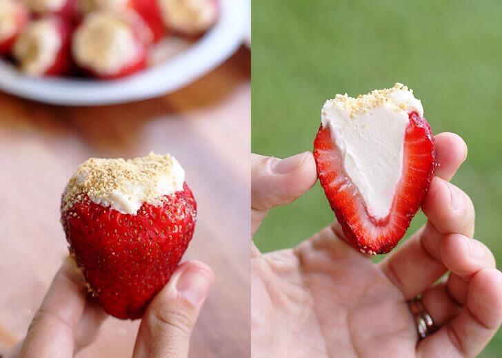 🍓🍓 Cheese Cake Stuffed Strawberries 🍓🍓
