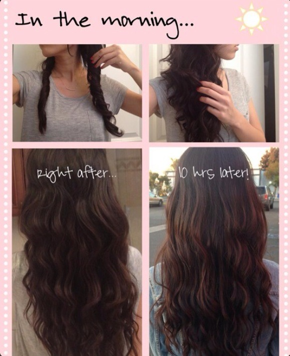 How To Get No Heat Curled Hair Over Night Tipit Trusper