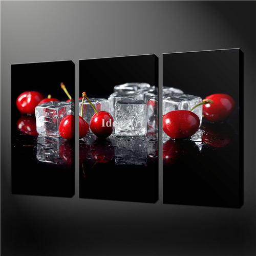 Black and red art wall trusper for Red kitchen wall art