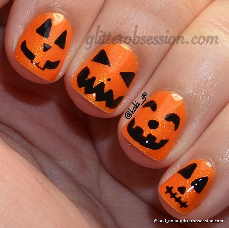 Cute Pumpkin Halloween Nails | Trusper