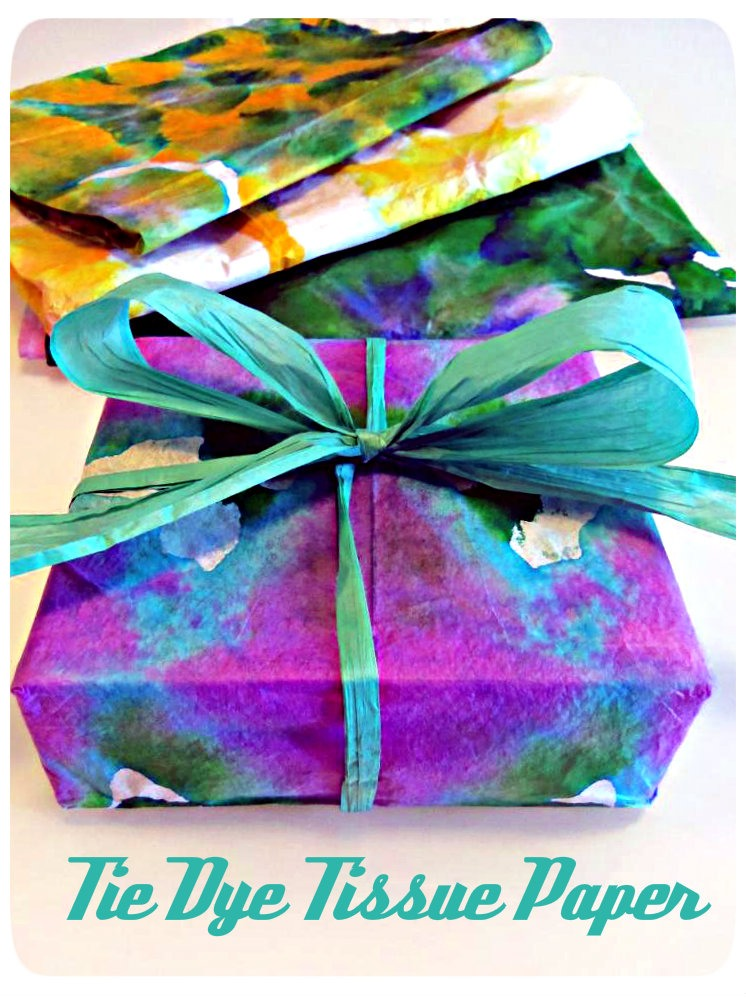 diy tie dye tissue paper trusper. Black Bedroom Furniture Sets. Home Design Ideas